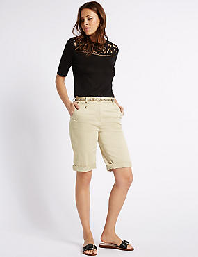 Cotton Rich Chino Shorts, STONE, catlanding