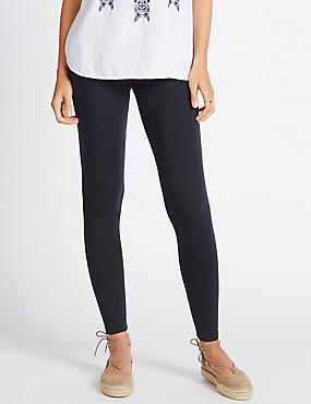 Cotton Rich Leggings, NAVY, catlanding