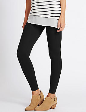 Cotton Rich Leggings, BLACK, catlanding