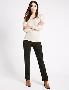Cord Straight Leg Jeans, KHAKI, catlanding