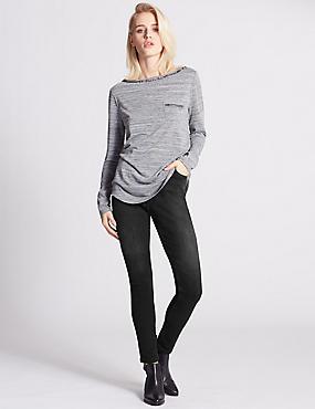Super Skinny Leg Jeans, BLACK, catlanding