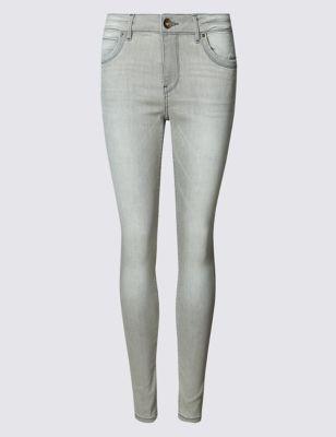 Выбеленные джинсы скинни Indigo Collection T573752