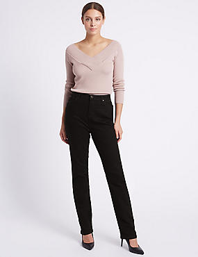 Slim Leg Reform Trousers, BLACK, catlanding