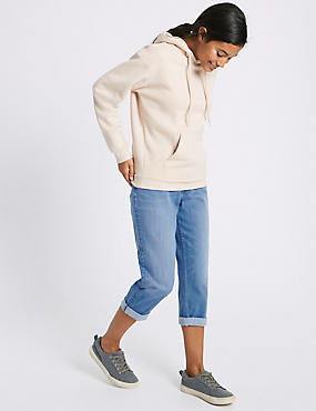 Mid Rise Cropped Slim Leg Jeans, BRIGHT BLUE, catlanding