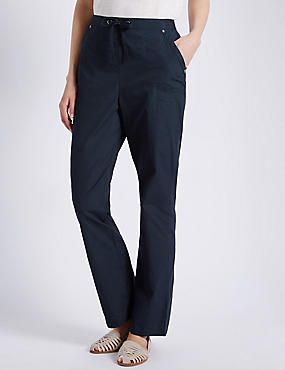 Pure Cotton Rugby Trousers, NAVY, catlanding