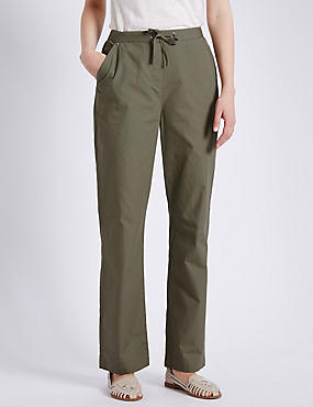 Pure Cotton Rugby Trousers, LIGHT KHAKI, catlanding