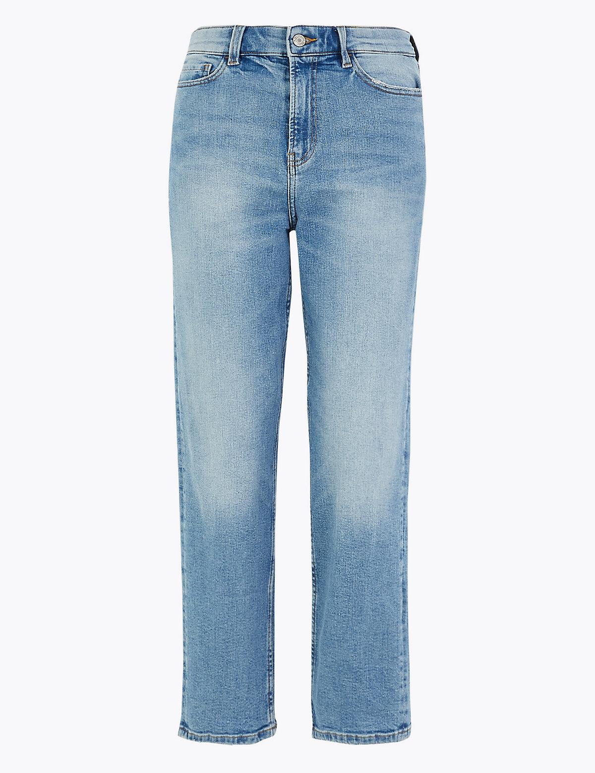 Прямые джинсы грейзер с высокой талией