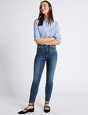 High Waist Mom Jeans, DARK INDIGO, catlanding
