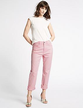Straight Leg Jeans , SUGAR PINK, catlanding