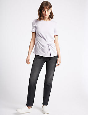 Straight Leg Jeans , MEDIUM GREY, catlanding