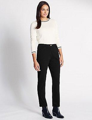 Mid Rise Garment Dye Slim Leg Jeans, BLACK, catlanding
