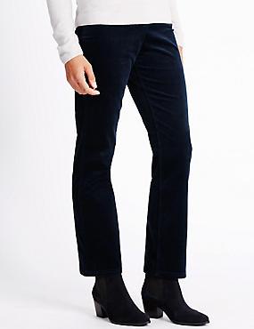 Cord Straight Leg Jeans, NAVY, catlanding
