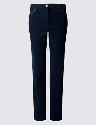 Прямые классические джинсы с плотной текстурой от Marks & Spencer