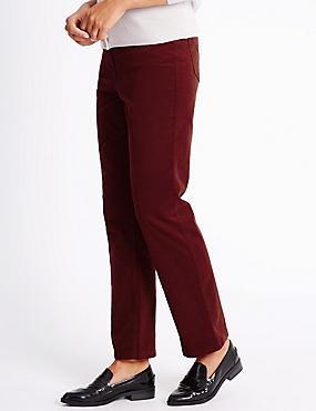 Cord Straight Leg Jeans, DARK CRIMSON, catlanding