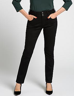 Skinny Leg Black Jeans, BLACK, catlanding