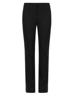 Современные брюки слим из ткани понте от Marks & Spencer