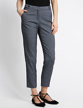 Jacquard Micro Spotted Tapered Leg Trousers