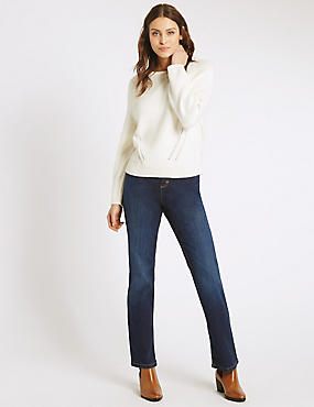 Slim Boot Cut Jeans, INDIGO, catlanding