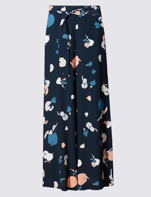 Широкие брюки с цветочной абстракцией от Marks & Spencer