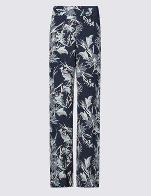 Широкие брюки с монохромным принтом Oriental
