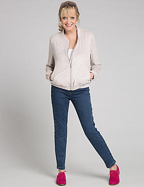 Side Plait Skinny Leg Jeans, INDIGO, catlanding