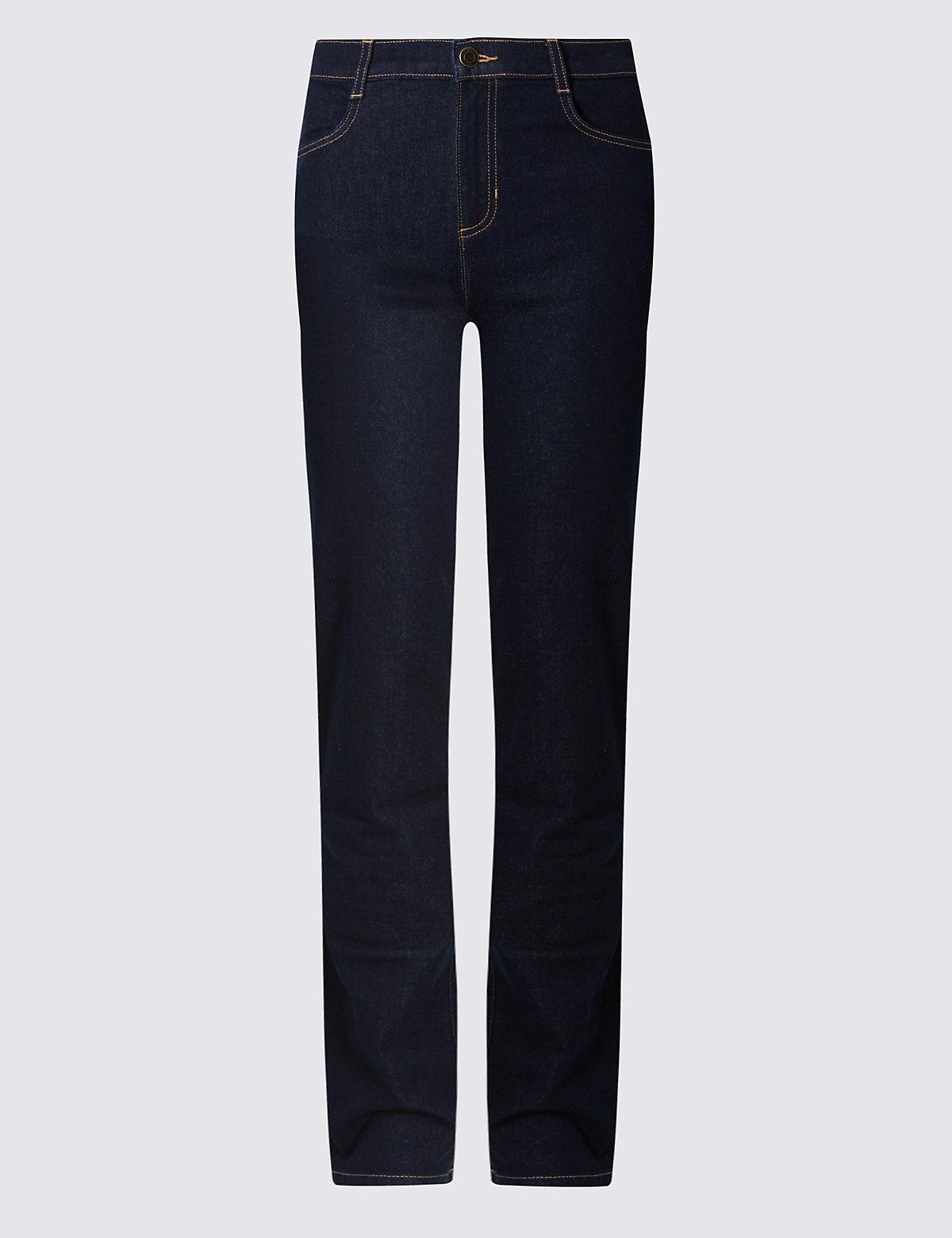 Классические прямые джинсы с высокой посадкой