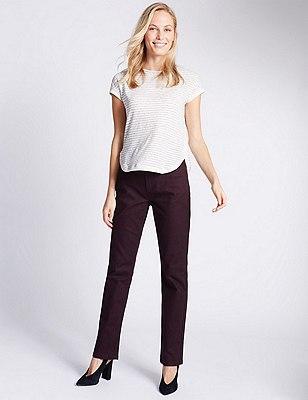 Ozone Straight Leg Denim Jeans, PLUM, catlanding