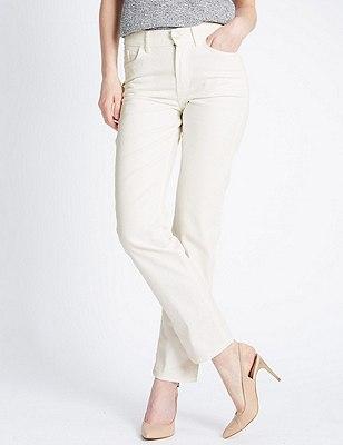Ozone Straight Leg Denim Jeans, SOFT WHITE, catlanding