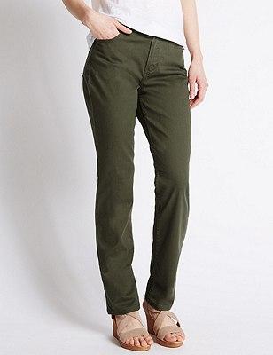 Ozone Straight Leg Denim Jeans, DARK KHAKI, catlanding