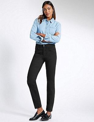 Ozone Straight Leg Denim Jeans, BLACK, catlanding