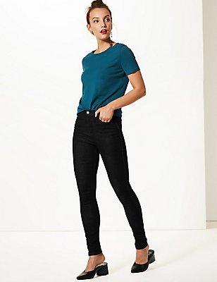 Mid Rise Skinny Leg Jeans, , catlanding