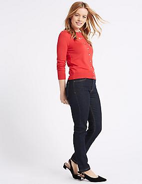 Mid Rise Skinny Leg Jeans, INDIGO MIX, catlanding