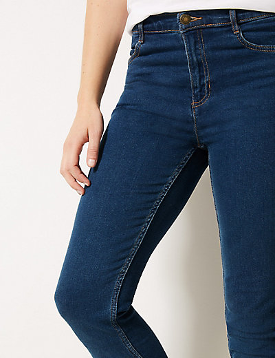 Mid Rise Skinny Leg Jeans | M&S