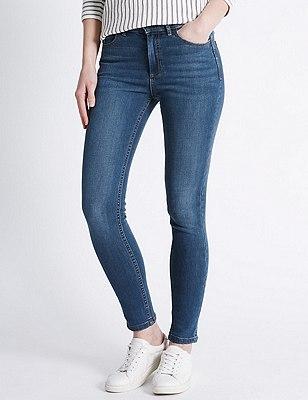 Ozone Skinny Leg Denim Jeans, MEDIUM INDIGO, catlanding