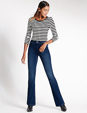 Mid Rise Boot-Cut Jeans, MED BLUE DENIM, catlanding