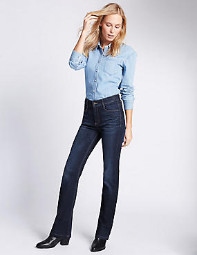 Bootcut-jeans met middelhoge taille, INDIGO MIX, catlanding