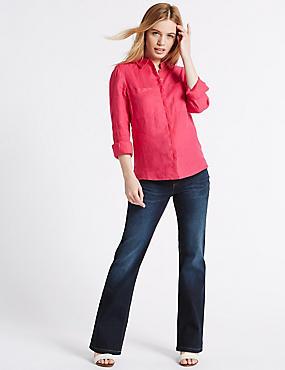 PETITE Schmale Bootcut-Jeans, INDIGO/INDIGO MELANGE, catlanding