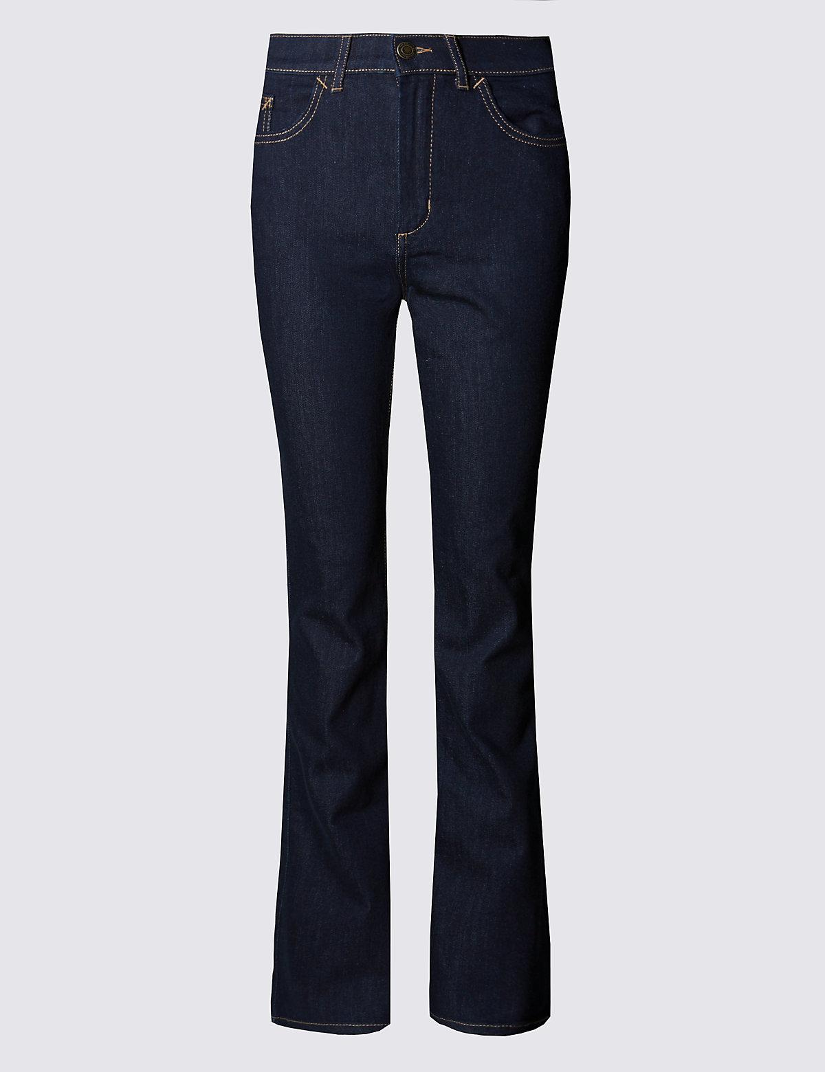 Тёмно-синие джинсы буткат