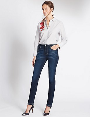 Skinny Leg Jeans, DARK INDIGO, catlanding