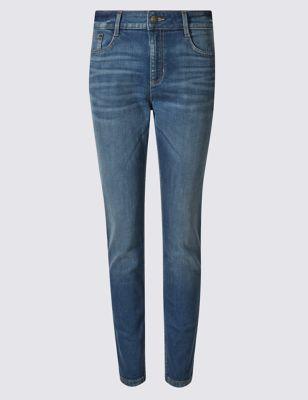 Классические джинсы скинни с эффектом заломов M&S Collection T576359