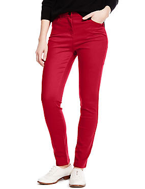 Sculpt & Lift Straight Leg Jeans, CHERRY RED, catlanding