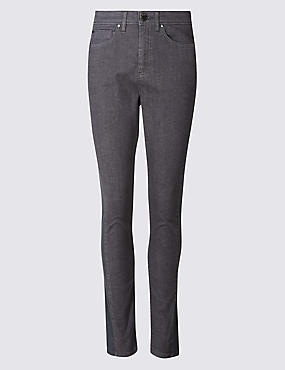 Mid Rise Skinny Leg Jeans, GREY, catlanding