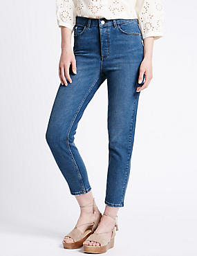 Button Fly Straight Leg Jeans, LIGHT INDIGO, catlanding