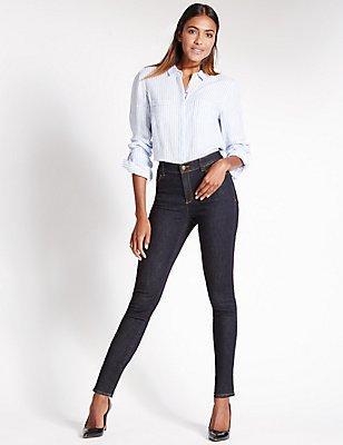 Sculpt & Lift Mid Rise Skinny Jeans, INDIGO MIX, catlanding