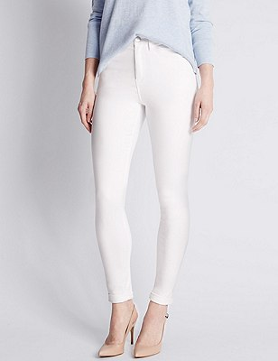 Sculpt & Lift Skinny Jeans, ECO WHITE, catlanding