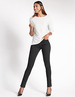 Sculpt & Lift Skinny Leg Jeans, BLACK, catlanding