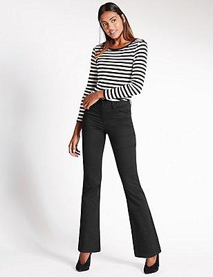 Sculpt & Lift Slim Bootcut Jeans, BLACK, catlanding