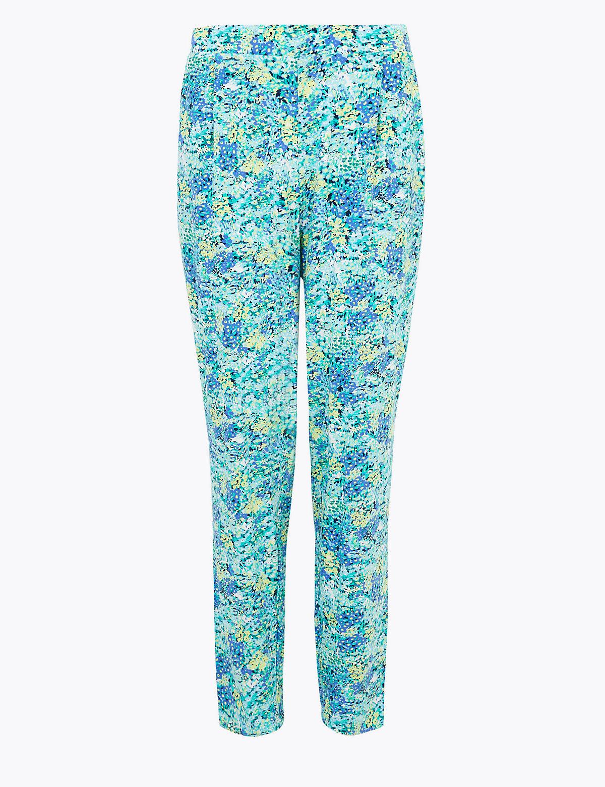 Трикотажные укороченные брюки StayNew™ с цветочным принтом