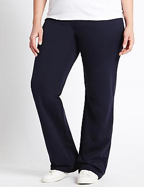 Cotton Rich Straight Leg Joggers, NAVY, catlanding