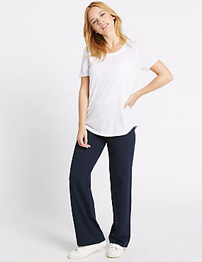 Cotton Rich Straight Leg Joggers, NAVY, catlanding